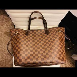 Louis Vuitton Damier Neverfull MM Tote Bag